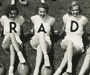Cheerleaders, rad, and vintage image