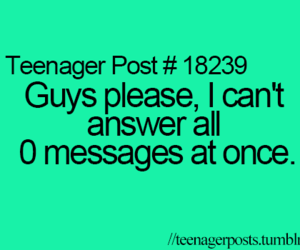 teenager post, funny, and message image