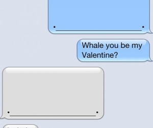 whale, valentine, and text image