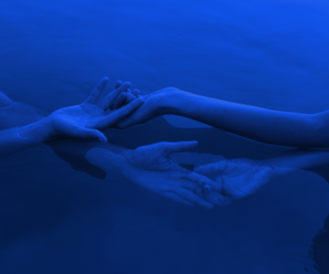 blue, cold, and hands image
