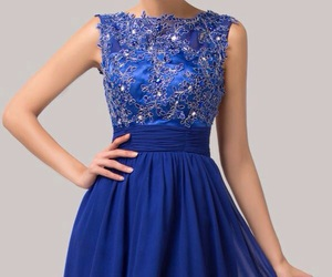 beauty, blue, and dress image