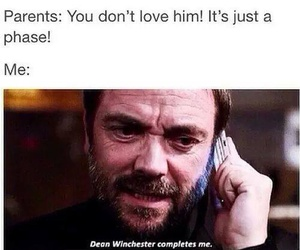 supernatural, dean winchester, and crowley image