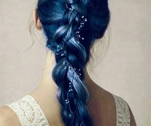 blue, hairdo, and hairstyle image