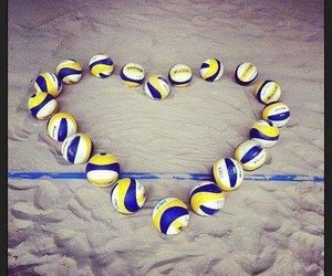 volleyball, ball, and love image