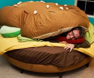bed, hamburger, and burger image