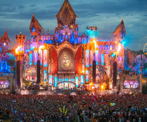 tomorrowland, colors, and festival image