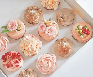 cream, cupcakes, and dessert image