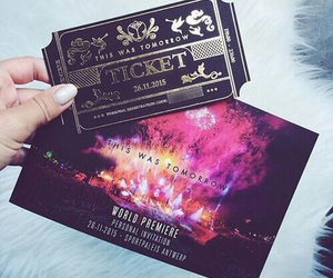 festival, tomorrowland, and ticket image