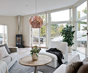 home, living room, and sweden image