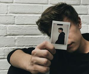boy, polaroid, and focus image