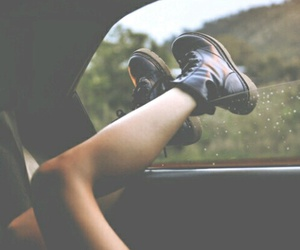 car, trees, and dr.martens image