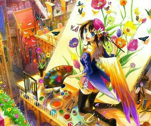 anime, colorful, and anime girl image