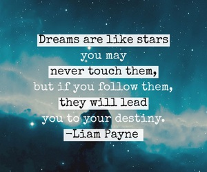 Dream, quote, and stars image