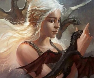 game of thrones, dragon, and art image