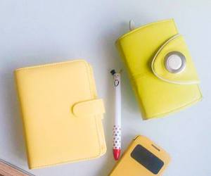 purse, yellow, and filofax image