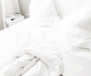 bedroom, decor, and blankets image