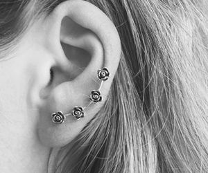 cuff, flower, and ear image