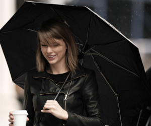 Taylor Swift, black, and umbrella image