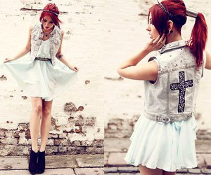 fashion, dress, and red hair image