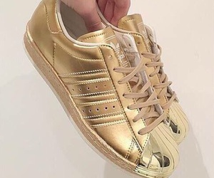 adidas, fashion, and gold image