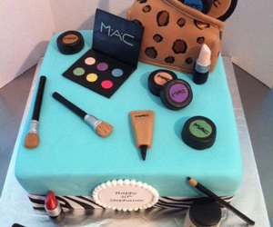 art, cake, and blue image