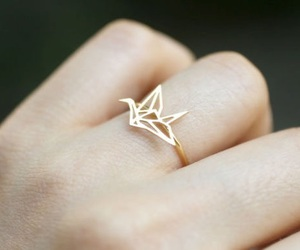 ring, origami, and gold image
