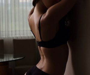 attractive, girl, and lingerie image