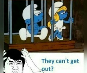 funny, lol, and smurfs image