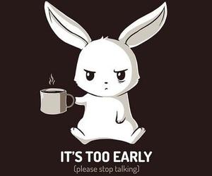 bunny, coffee, and morning image