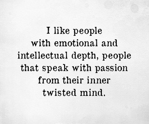 deep, intelligent, and quotes image