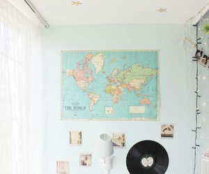 decoration, light, and map image