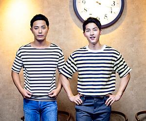 song joong ki, jin goo, and descendants of the sun image