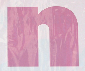 alphabet, pink, and oneletter image