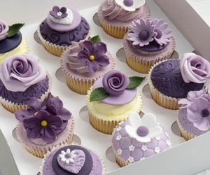 cupcake, purple, and sweet image
