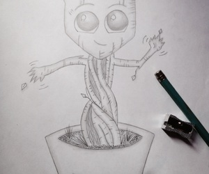 drawing, pencil, and groot image