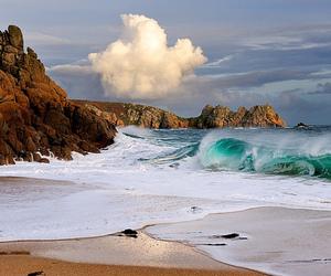 beach, waves, and ocean image