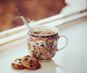 cup, Cookies, and drink image