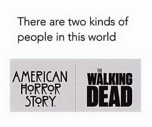 the walking dead, ahs, and american horror story image