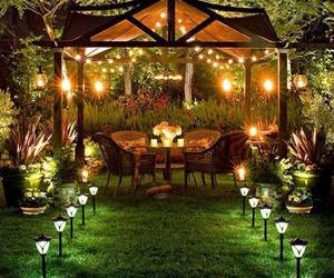 garden, light, and romantic image
