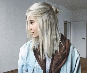 girl, hair, and youtube image