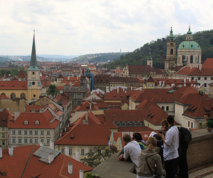 prague and roofs image
