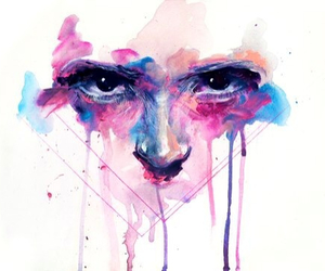 art and aquarell face image