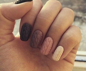 nails, nail art, and sweater image