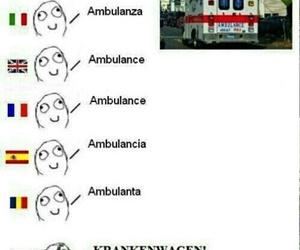 funny, ambulance, and language image