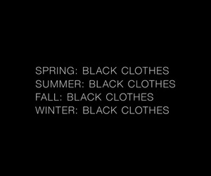 black, fall, and clothes image