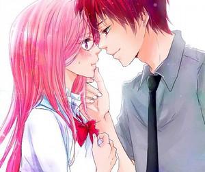 anime, blush, and illustration image