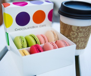 coffe, colors, and macaroons image