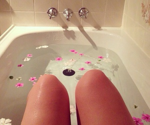 flowers, cute, and bath image