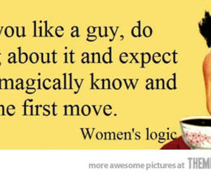 funny, women, and logic image