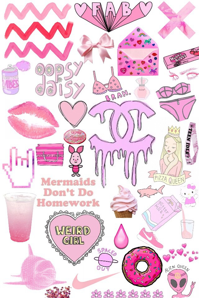 Transparent Wallpaper Iphone Pink Tumblr Lips Channel Mermaids Weird Hearts Eyes Drawings Art Food Daisy